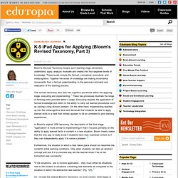 K-5 iPad Apps for Applying: Part Three of Bloom's Revised Taxonomy