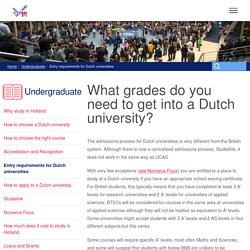 Applying to Dutch universities