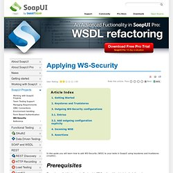 Applying WS-Security