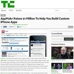 AppMakr Raises $1 Million To Help You Build Custom iPhone Apps