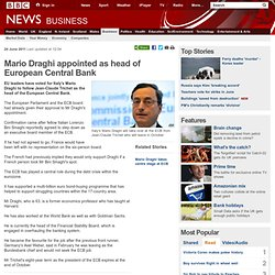 BBC: Mario Draghi appointed as head of European Central Bank