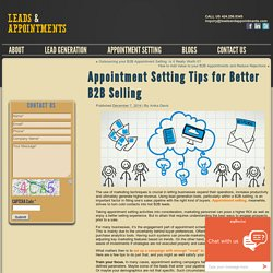Appointment Setting Tips for Better B2B Selling