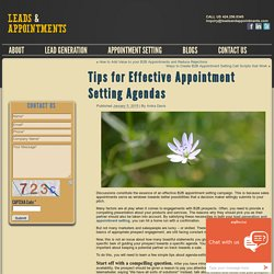 Tips for Effective Appointment Setting Agendas