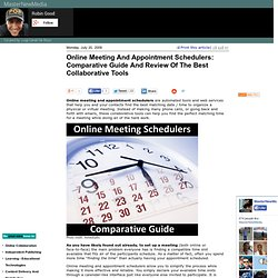 Online Meeting And Appointment Schedulers: Comparative Guide And Review Of The Best Collaborative Tools