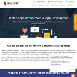 Benefits Of An Online Doctor Appointment Software Development