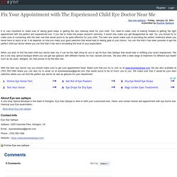 Fix Your Appointment with The Experienced Child Eye Doctor Near Me