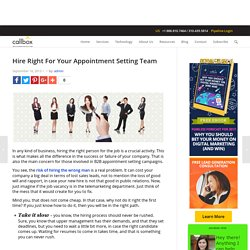 Hire Right For Your Appointment Setting Team - B2B Lead Generation Australia