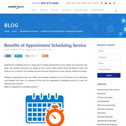 Benefits of Appointment Scheduling Service