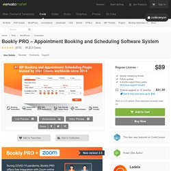 Bookly PRO –Appointment Booking and Scheduling Software System by Ladela