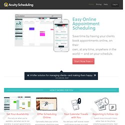 Online Appointment Scheduling Software - Free sign up!