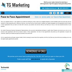 Get Your Successful Appointment Setting With TG Marketing USA