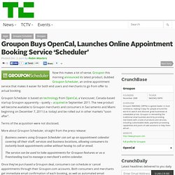 Groupon Buys OpenCal, Launches Online Appointment Booking Service 'Scheduler'