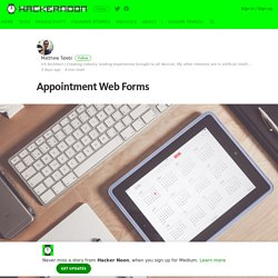Appointment Web Forms – Hacker Noon