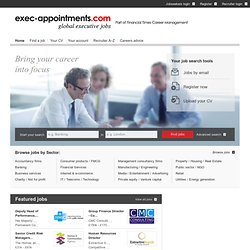 Global executive jobs - exec-appointments.com