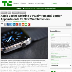 "Apple Begins Offering Virtual ""Personal Setup"" Appointments To New Watch Owners"