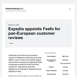 Expedia appoints Feefo for pan-European customer reviews