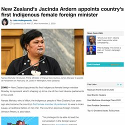Jacinda Ardern appoints country's first Indigenous female foreign minister
