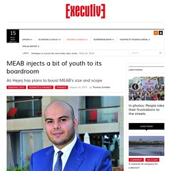 MEAB appoints youthful chairman with a new strategy
