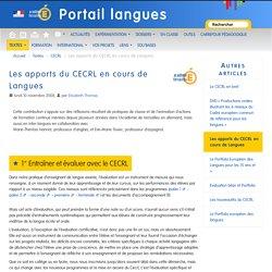 Les apports du CECRL en cours de Langues