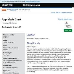 Appraisals Clerk - Civil Service Jobs - GOV.UK