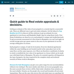 Quick guide to Real estate appraisals & decisions.: ext_5572490 — LiveJournal