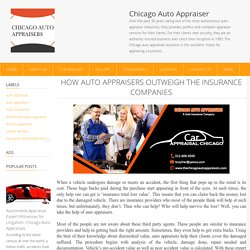 How auto appraisers outweigh the insurance companies