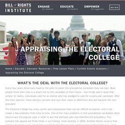 Appraising the Electoral College - Bill of Rights Institute