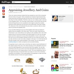 Appraising Jewellery And Coins