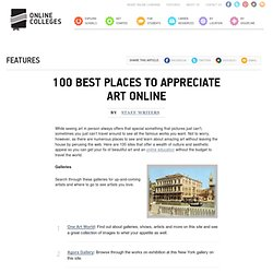 100 Best Places to Appreciate Art Online