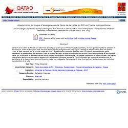 ENVT - 2011 - Thèse en ligne : Appréciation du risque d'émergence de la fièvre de la vallée du Rift en France métropolitaine