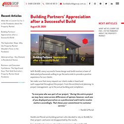 Building Partners' Appreciation after a Successful Build - BuildQ Group