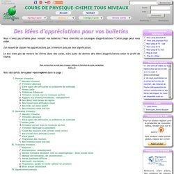 Des idées d'appréciations pour vos bulletins scolaires (exemples)
