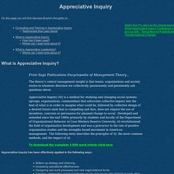 Appreciative Inquiry Resources by Gervase Bushe