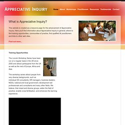 Appreciative Inquiry - What is Appreciative Inquiry?