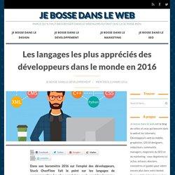 Les langages les plus appréciés des développeurs dans le monde en 2016