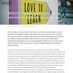 [MOOC] Planète apprenante : pour une rentrée pleine de perspectives - futur of work changement MOOC formation