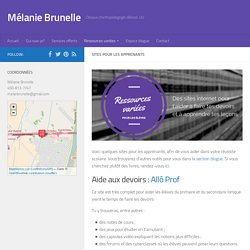 Sites pour les apprenants - Mélanie Brunelle