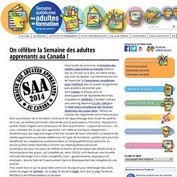 On célèbre la Semaine des adultes apprenants au Canada ! · Semaine québécoise des adultes en formation