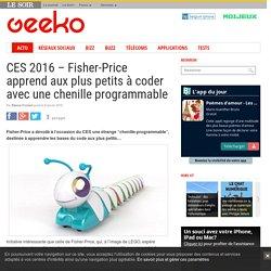 CES 2016 – Fisher-Price apprend aux plus petits à coder avec une chenille programmable