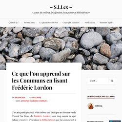 Ce que l'on apprend sur les Communs en lisant Frédéric Lordon – – S.I.Lex –
