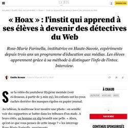 «Hoax»: l'instit qui apprend à ses élèves à devenir des détectives du Web - 9 janvier 2017