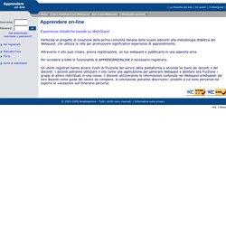 Apprendereonline, esperienze didattiche basate su Webquest