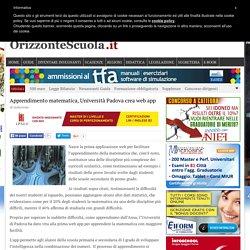 Apprendimento matematica, Università Padova crea web app – Orizzonte Scuola