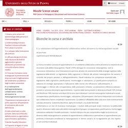 Ricerche in corso e archivio: La valutazione dell'apprendimento collaborativo online attraverso la metacognizione sociale