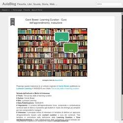 Learning Curation - Cura dell'apprendimento, traduzione - G. Marini