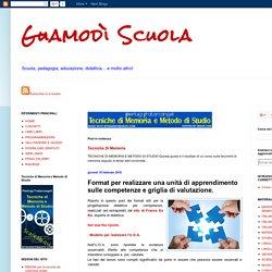 Guamodì Scuola: Format per realizzare una unità di apprendimento sulle competenze e griglia di valutazione.