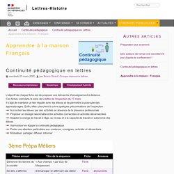Apprendre à la maison : Français