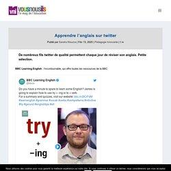 Apprendre l'anglais sur twitter - VousNousIls