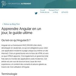 Apprendre Angular en un jour, le guide ultime - Tinci