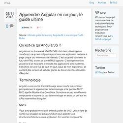 Apprendre Angular en un jour, le guide ultime · VF svp